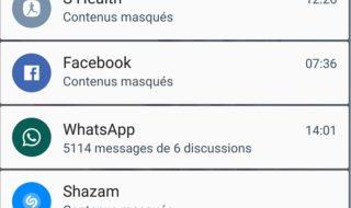 Android : comment masquer le contenu des notifications sur l'écran de verrouillage