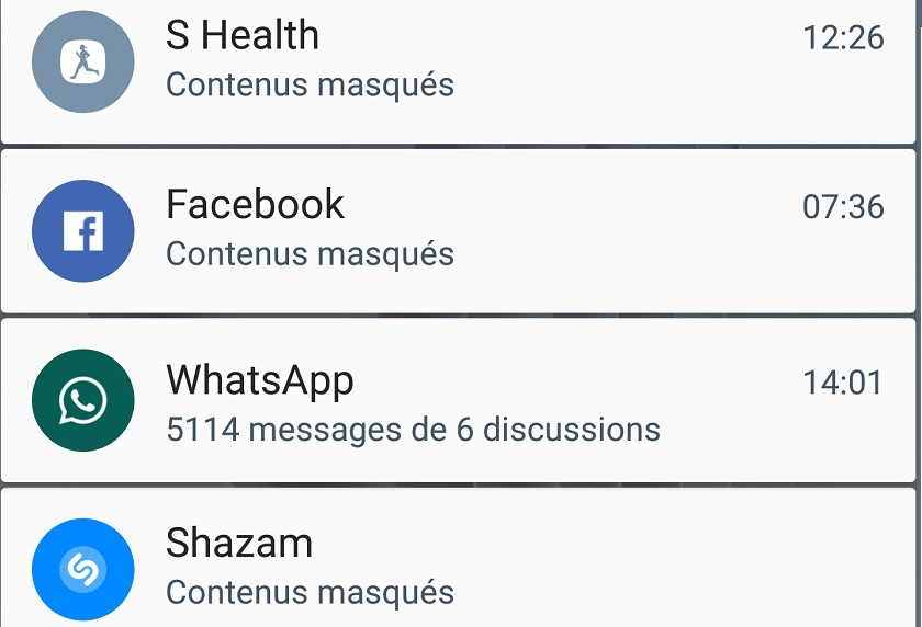 Masquer le contenu des notifications Android