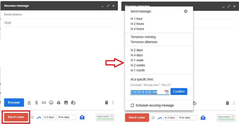Programmer envoi email Gmail
