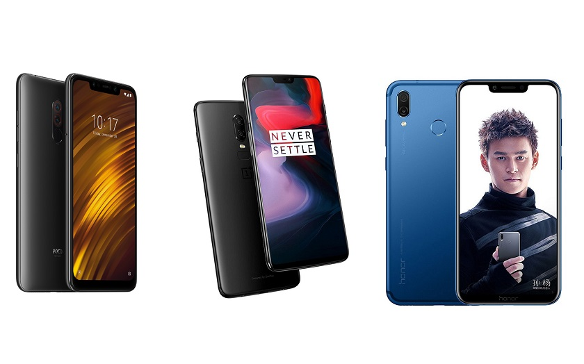 Xiaomi Pocophone F1 Oneplus 6 Honor Play