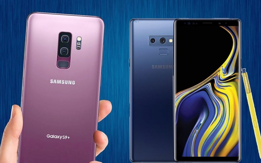 Samsung Galaxy Note 9 vs S9 Plus