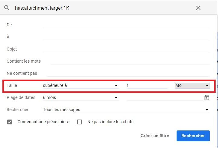 Filtre Gmail