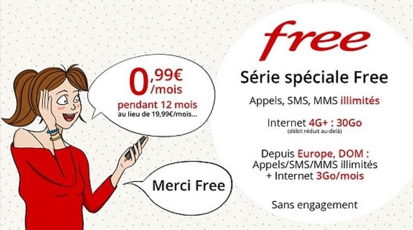 Free mobile vente privée 30 Go