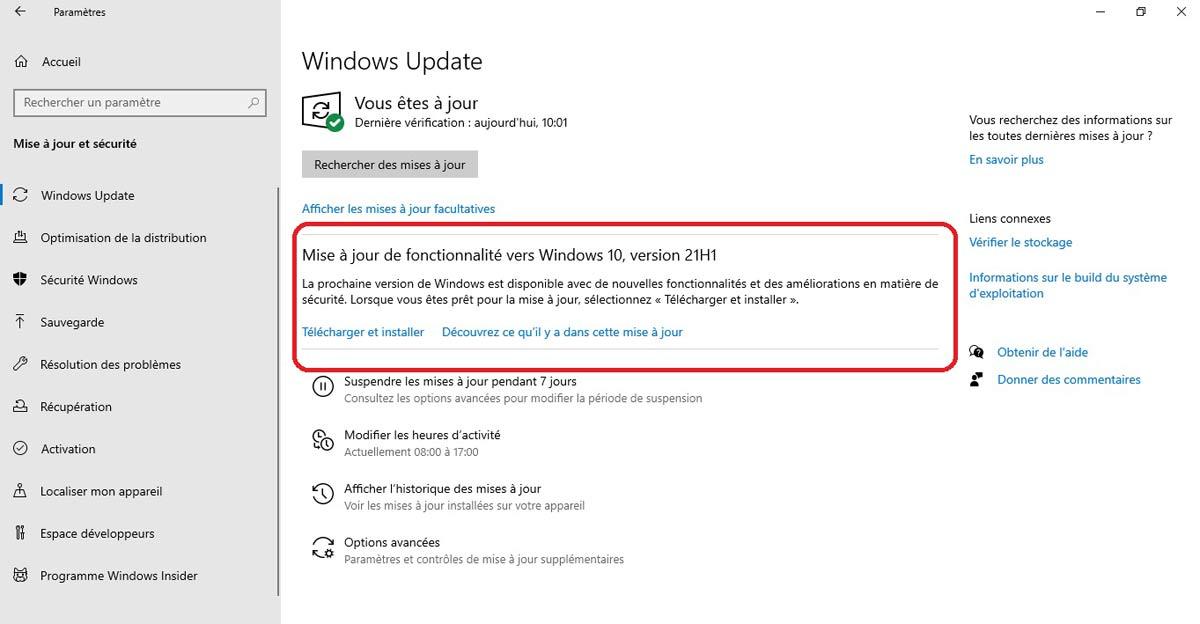 Mise à jour Windows Insider