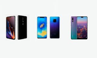 Oneplus 6t vs Huawei P20 Pro vs Mate 20 Pro