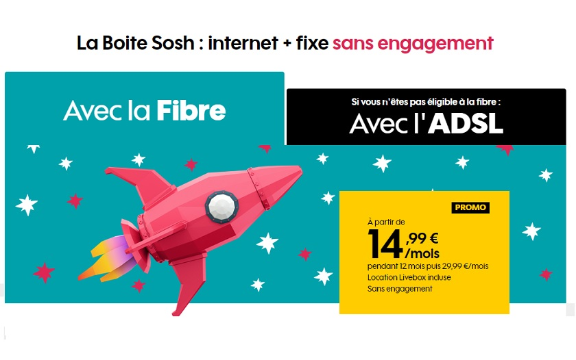 Abonnement Internet Sosh à 14,99 €