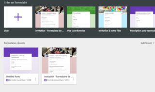 Créer questionnaire google en ligne