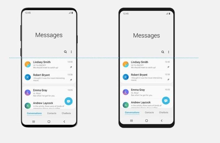 Samsung Galaxy S10 écran en fuite