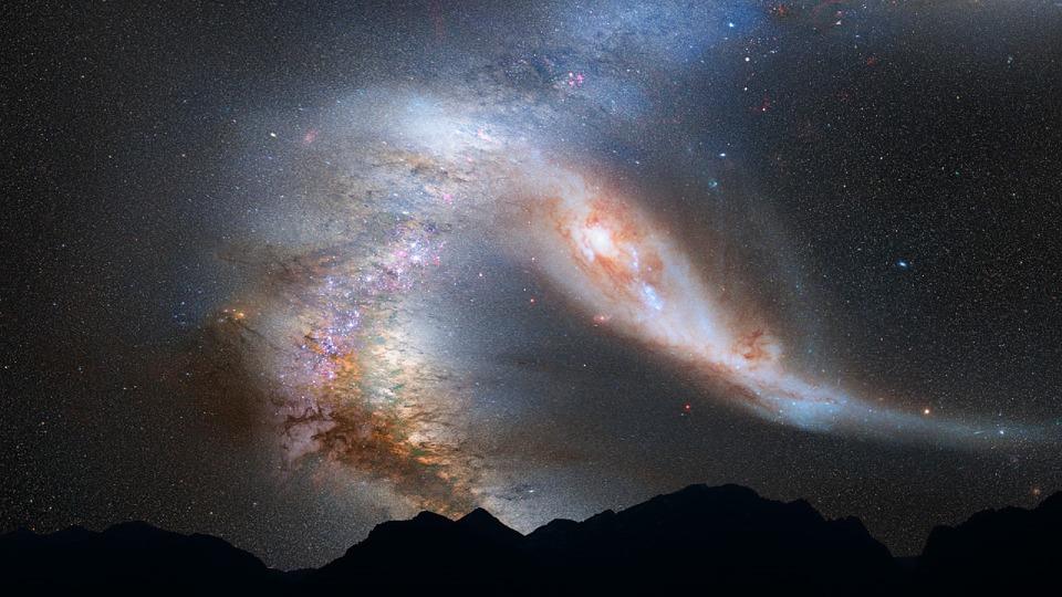 Collision voie lactée Andromède