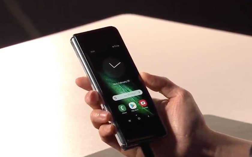 Galaxy Fold en mode smartphone