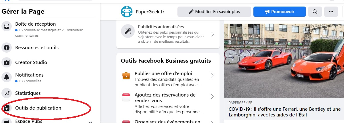 Facebook Publishing Tool