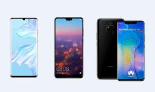 Huawei P30 Pro vs P20 Pro vs Mate 20 Pro