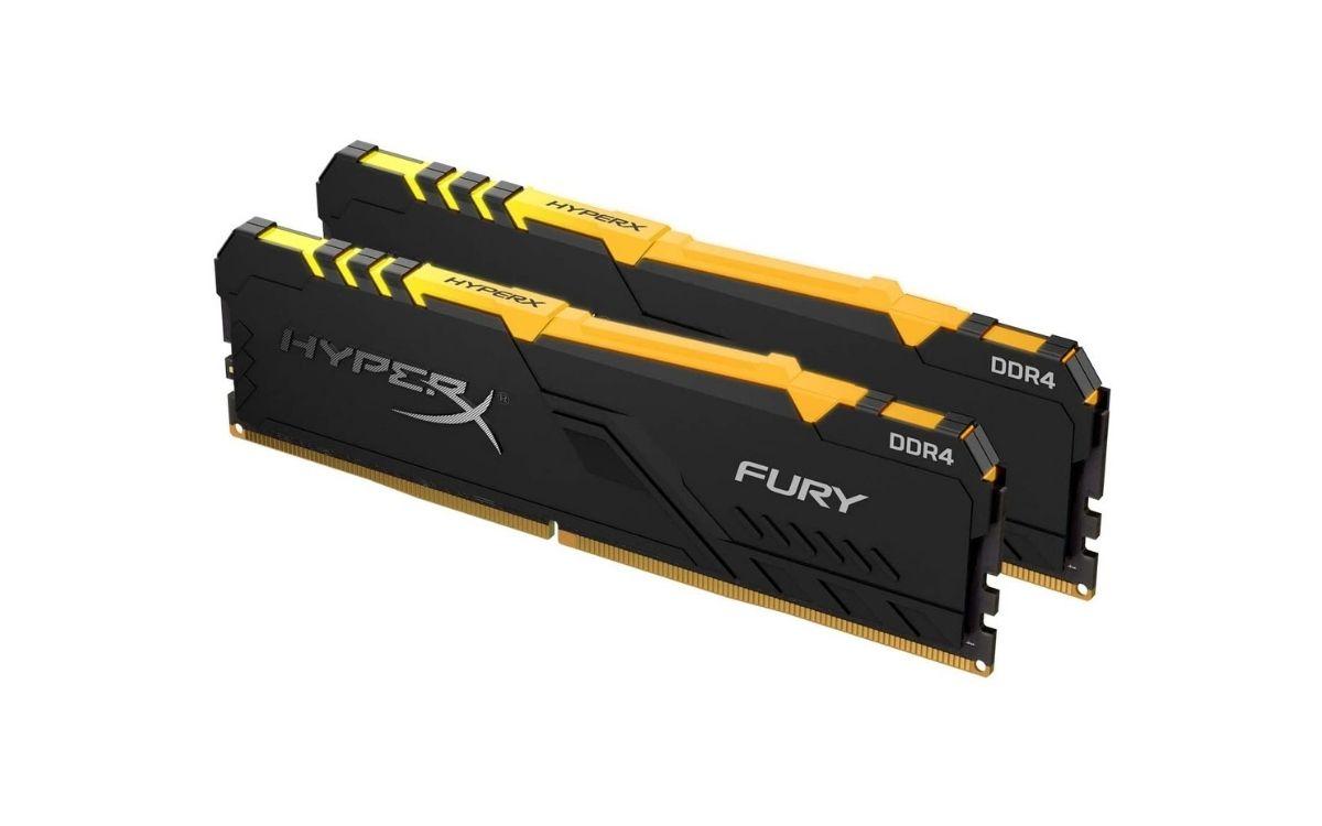 Mémoire vive HyperX Fury RGB, 16 Go, DDR4, 3600 MHz, CL17