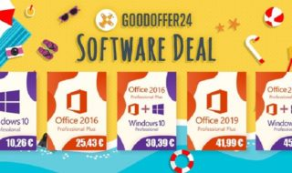 Promo Goodoffer24 : Windows 10 Pro à 10.26€, Office 2016 Pro à 25.43€, les deux à 30.39€