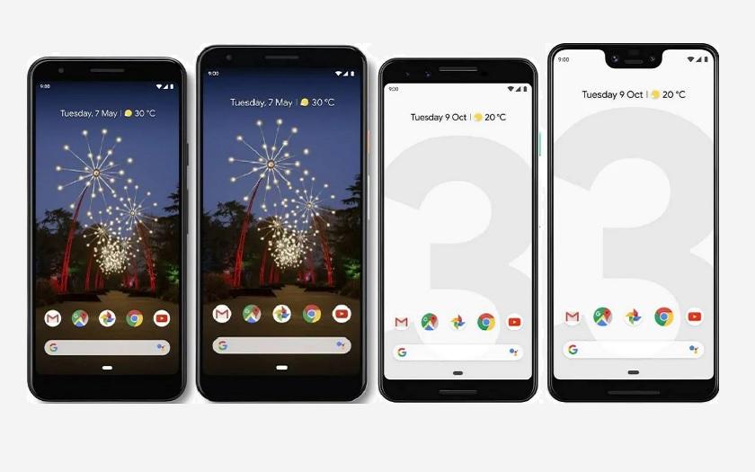 Comparatif Google pixel 3a et Pixel 3