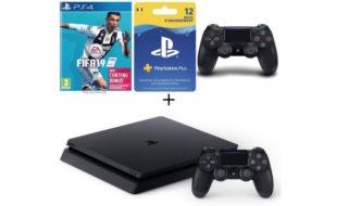 Bon plan : pack PS4 500 Go + FIFA 19 + abonnement PS Plus 12 mois + 2ème manette à 329,99 €
