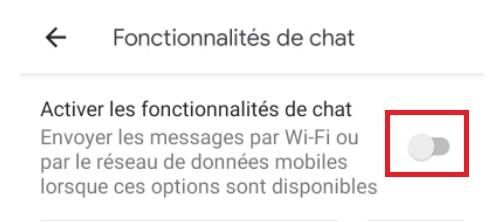 Activer les fonctionnalités de Chat RCS