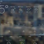 Applications météo Android et iOS