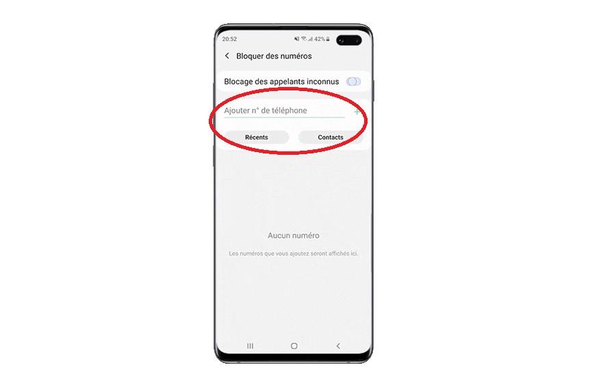 Bloquer un numéro de téléphone sur Samsung