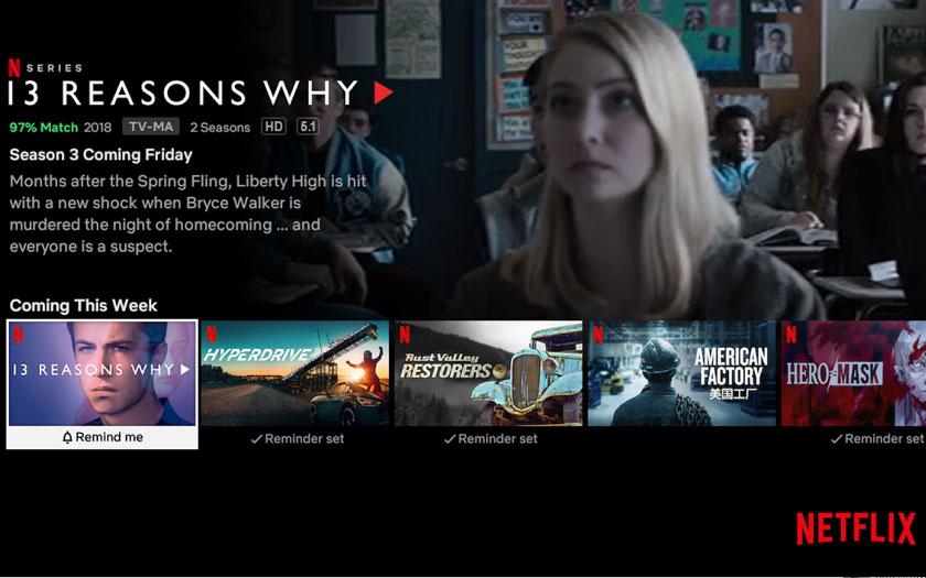 Netflix propose une nouvelle fonctionnalités pour les nouveautés