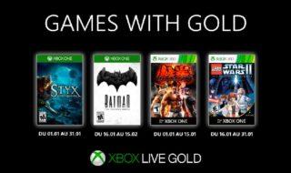 Xbox Games with Gold : voici les jeux gratuits de janvier 2020 sur Xbox One et Xbox 360