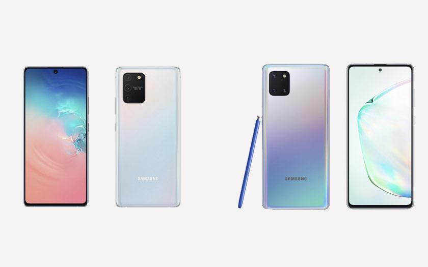 Samsung Galaxy S10 Lite et Note 10 Lite