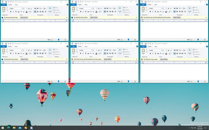 Windows 10 pubs dans WordPad
