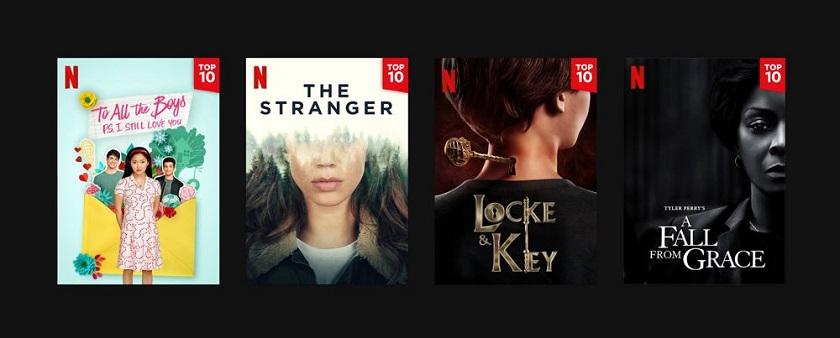 Netflix : top 10 des films et séries