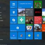 Menu Démarrer de Windows 10