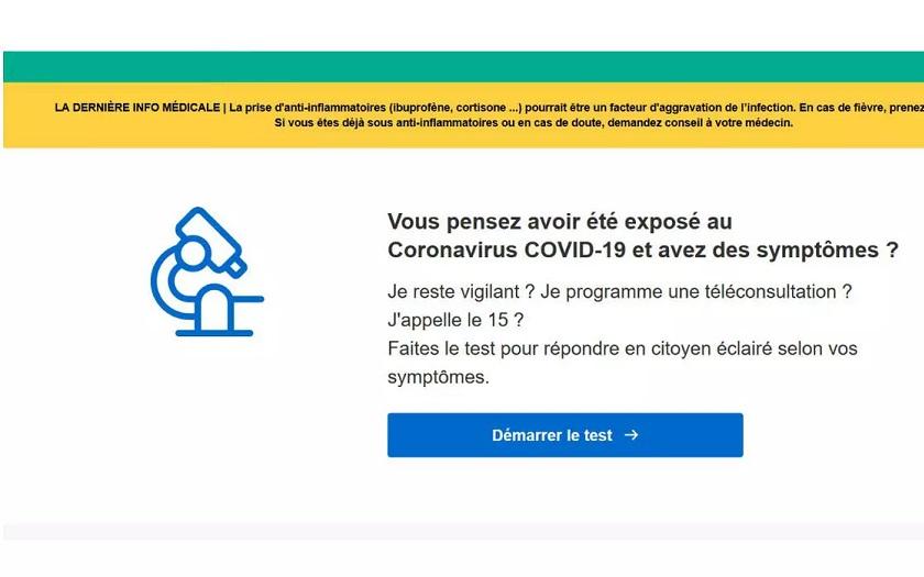 Coronavirus : un site pour évaluer vos symptômes