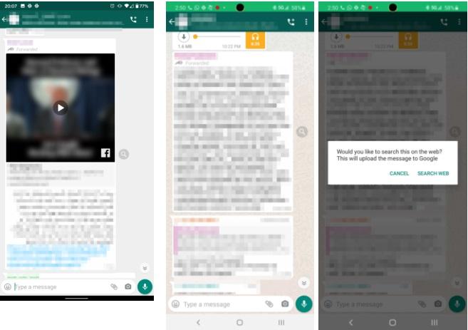 """WhatsApp propose deux nouvelles fonctionnalités utiles en pleine crise du coronavirus (covid19) pour vous permettre de mieux vous informer d'une part en accédant à une plateforme de l'Organisation Mondiale de la Santé (OMS), mais aussi pour débusquer les Fake News qui se multiplient sur les réseaux sociaux en ce moment. Toutes les forces continuent de se mobiliser contre le coronavirus et WhatsApp a décidé de se joindre à la bataille en permettant aux utilisateurs de mieux s'informer sur le covid-19. Cette initiative a forcément son importance, l'application étant utilisée par plus de deux milliards de personnes dans le monde. Concrètement, deux nouveautés sont à signaler sur l'application. La première est un chatbot de l'OMS qui permet à qui le souhaite de s'enquérir des informations essentielles liées au coronavirus : les numéros de téléphone à appeler dans votre région pour vous entretenir avec des conseillers, les précautions à prendre pour vous protéger et protéger votre entourage, etc. Une série de questions est également disponible sur ce chatbot whatsapp. Vous pouvez choisir n'importe laquelle, comme celle sur les symptômes du nouveau coronavirus pour obtenir une réponse pertinente. Malheureusement, nous avons testé le chatbot et il ne répond qu'en anglais uniquement pour l'instant. Nous espérons qu'il s'adaptera très vite à toutes les langues pour permettre à tout le monde de s'informer. Vous pouvez accéder au chatbot de l'OMS sur WhatsApp en cliquant sur ce lien. La seconde fonctionnalité liée au coronavirus sur WhatsApp est en test actuellement et n'est donc pas disponible pour tout le monde. Il s'agit d'une fonction de Fact Check ou vérificateur de fait qui permet de contrôler la véracité d'une information alors que les Fake News en lien avec le covid-19 se multiplient sur les réseaux sociaux. Concrètement, une icône """"recherche"""" affichée à côté d'un message transféré vous conduit directement sur Internet avec une recherche ciblée sur Google. Selon le con"""