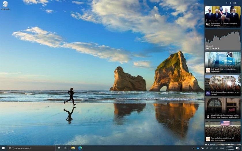Windows 10 News Bar