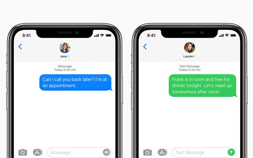 iMessage sur iPhone