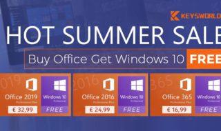 Keysworlds : une licence Office achetée, une licence Windows 10 offerte