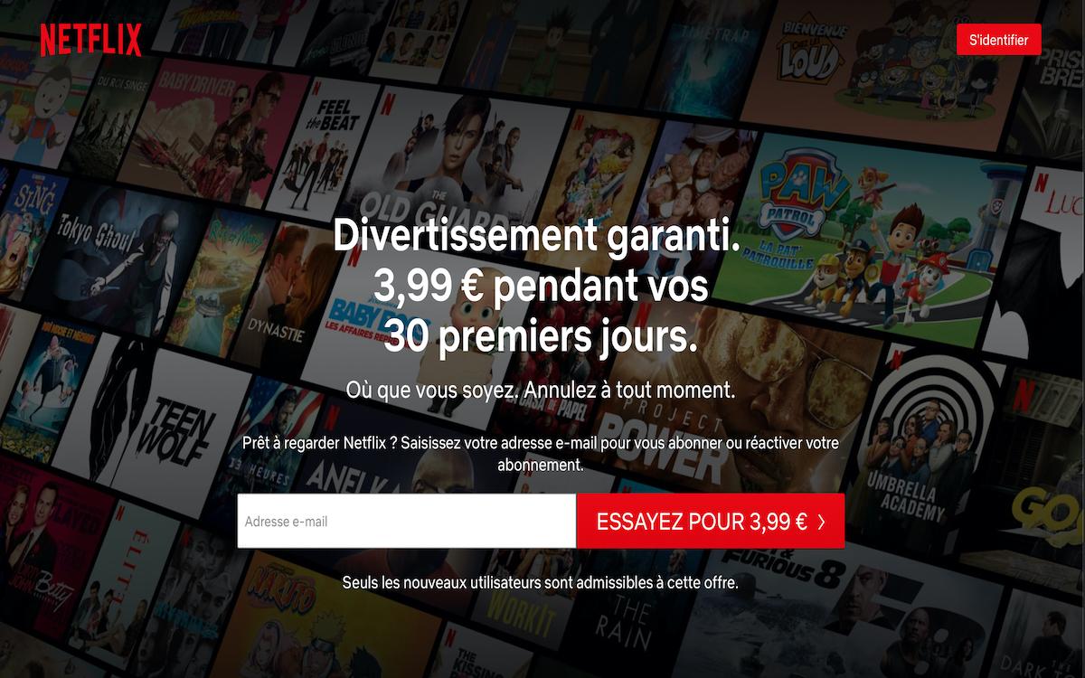 Offre d'essai Netflix