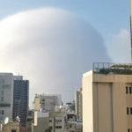 Une image du nuage de l'explosion de Beyrouth. Crédits @ Reuters - Karim Sokhn