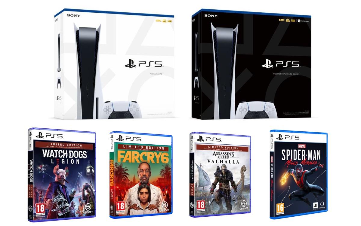 Boîte de la PS5 et design des boîtes de jeux PS5