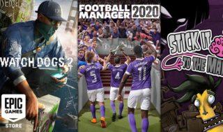 Football Manager 2020 et Watch Dogs 2 gratuits sur l'Epic Games Store