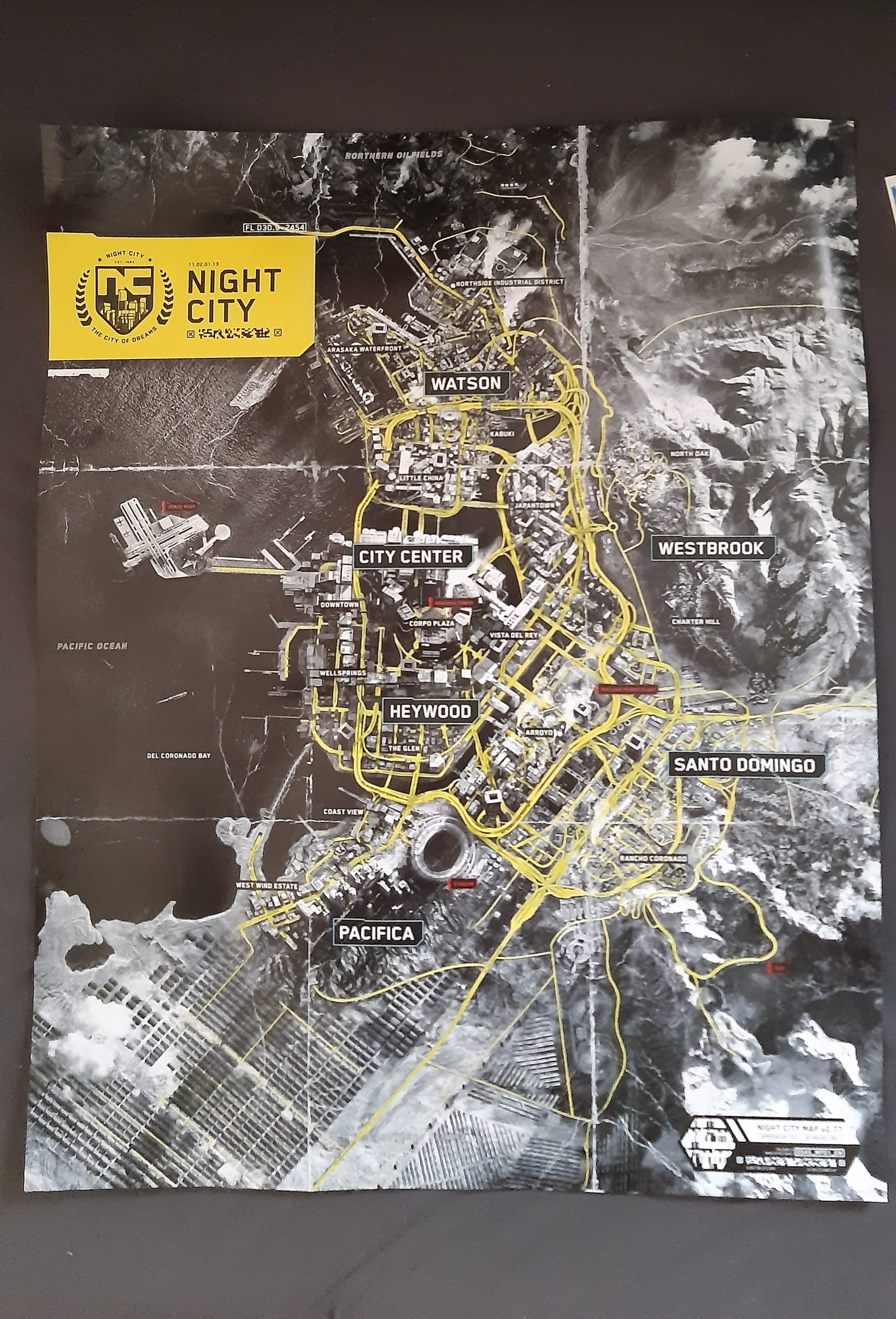 Night City carte fuite Cyberpunk 2077