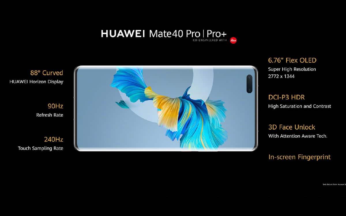 Huawei Mate 40 Pro fiche technique