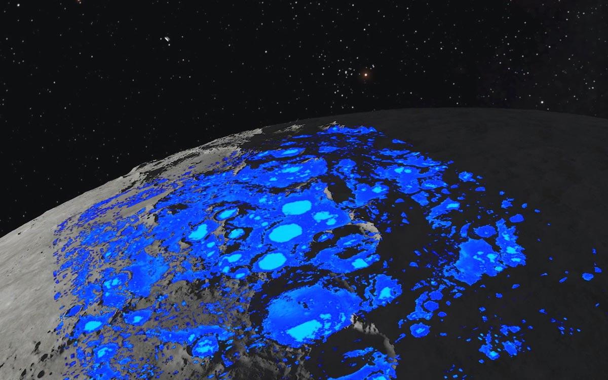 La Nasa a découvert l'eau sur la Lune