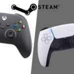 Nouvelle manette Xbox et DualSense sur Steam