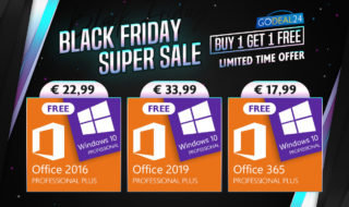 Windows 10 offert avec Office 2016 ou 2019 pour le Black Friday GoDeal24 !
