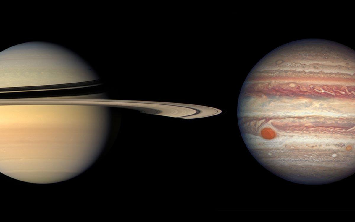Jupiter et Saturne