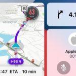 Waze CarPlay tableau de bord