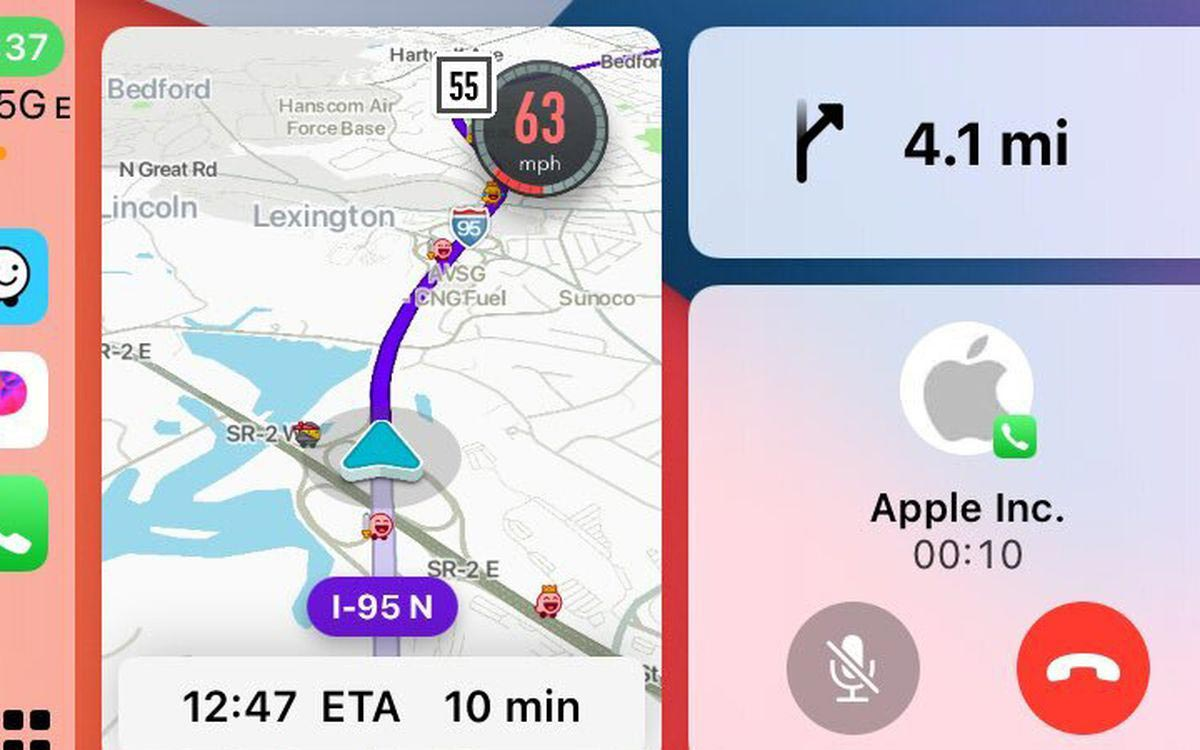 Waze CarPlay tableau de bord