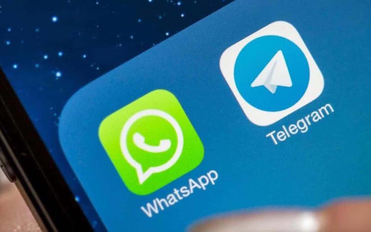 WhatsApp et Telegram