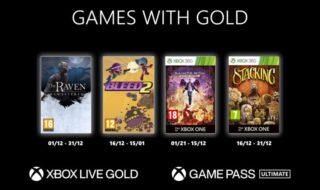 Xbox Games With Gold décembre 2020 : les jeux gratuits du mois