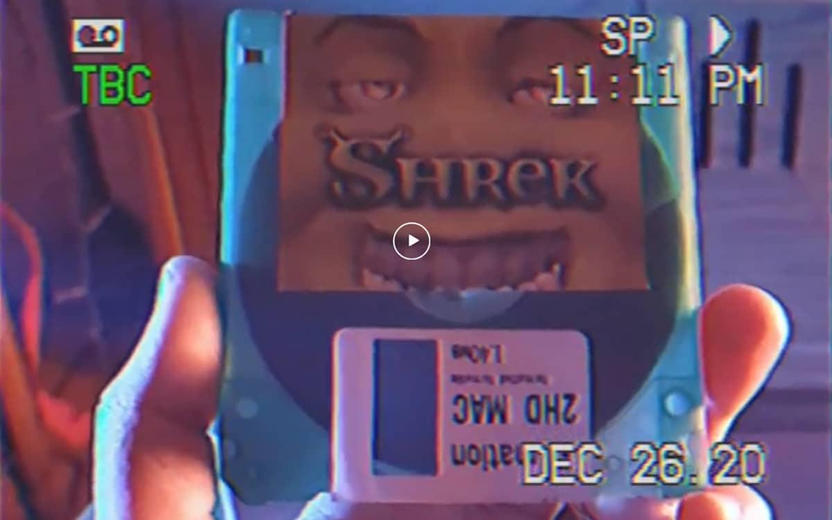 Film Shrek enregistré sur disquette
