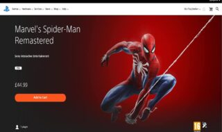 Spider-Man Remastered sur le PS Store